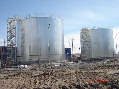 Монтаж тепловой изоляции резервуаров